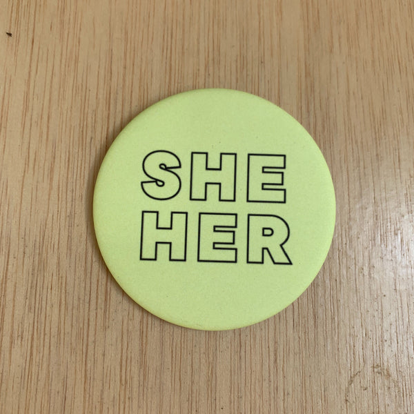 She Her Button