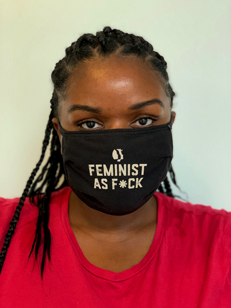 Feminist As F*ck Face Mask
