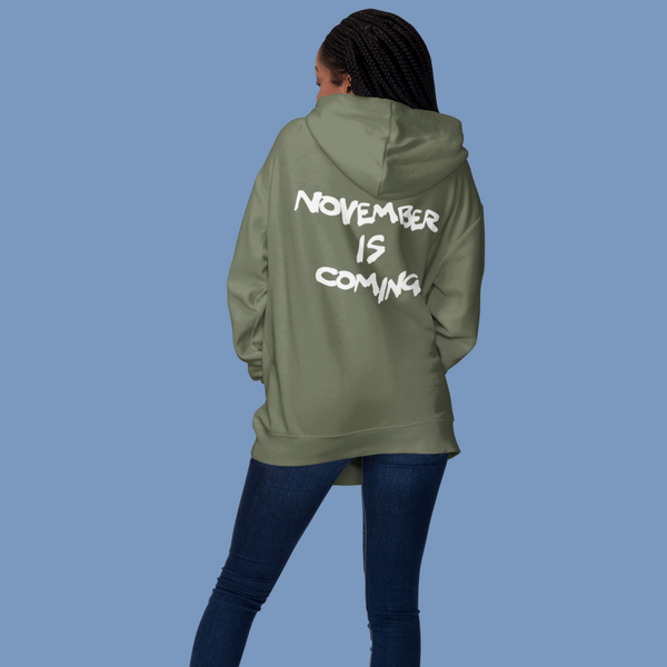 November Is Coming Zip Up Hoodie