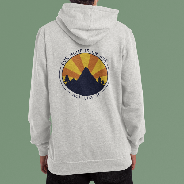 Our Home Is On Fire Eco Zip Up Hoodie