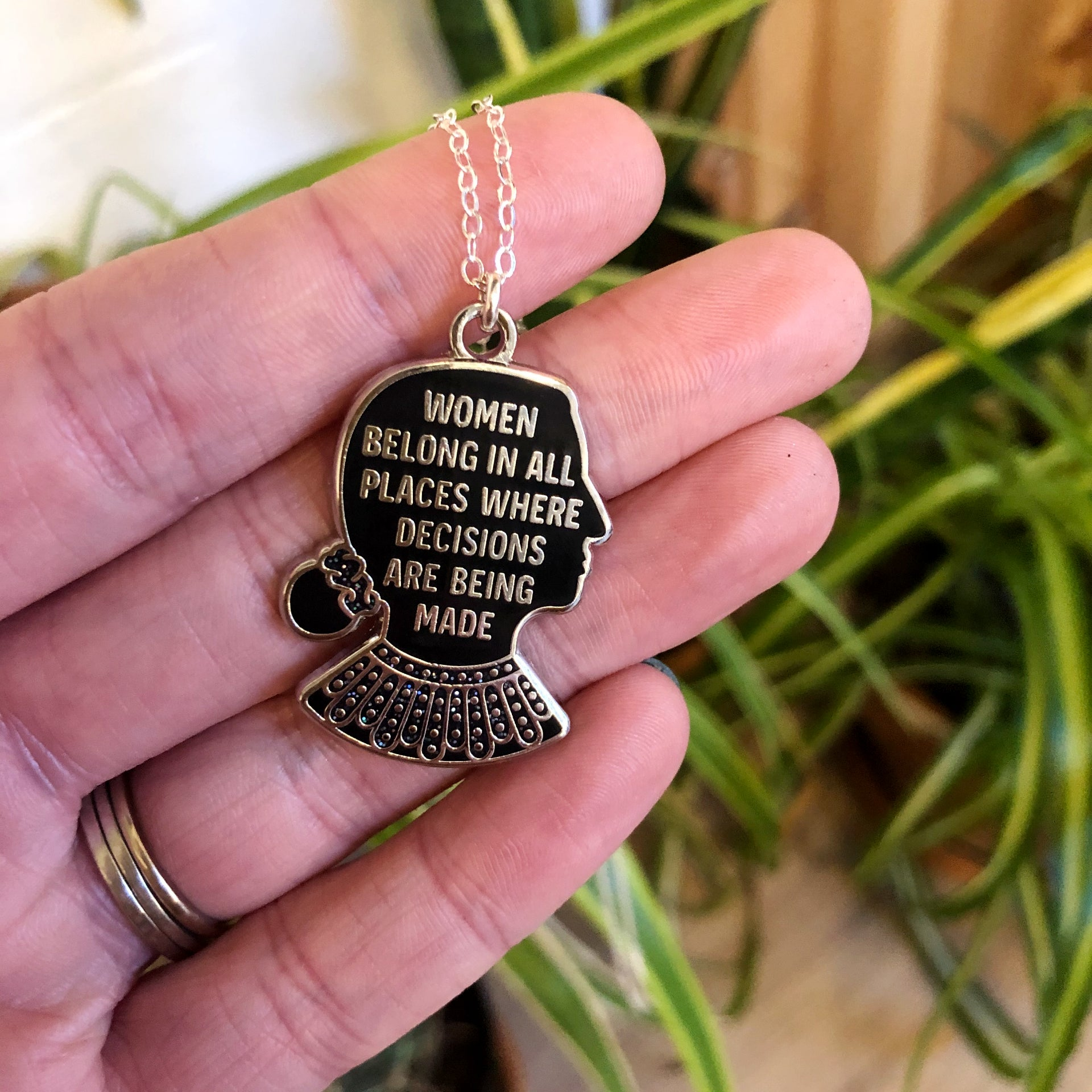 RBG Quote Necklace