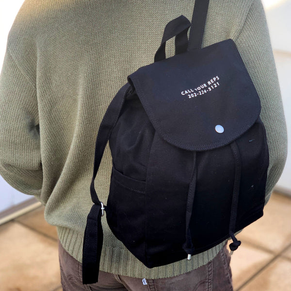 Call Your Reps Drawstring Backpack