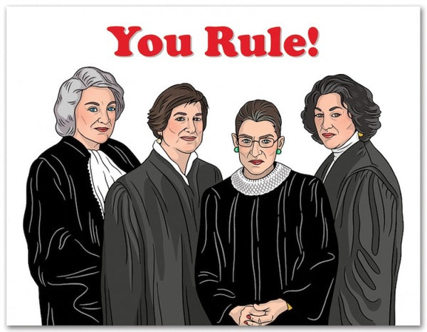 Supreme Justices Birthday Card