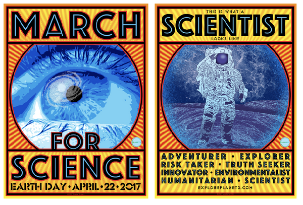 LIMITED EDITION Chuck Sperry - March for Science Poster