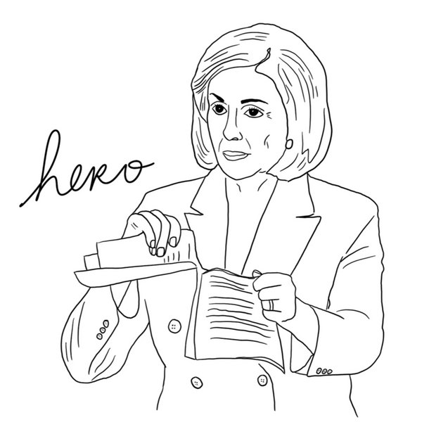 Nancy Pelosi Is A Hero Unisex Tee