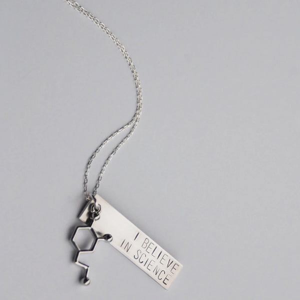 I Believe In Science Necklace