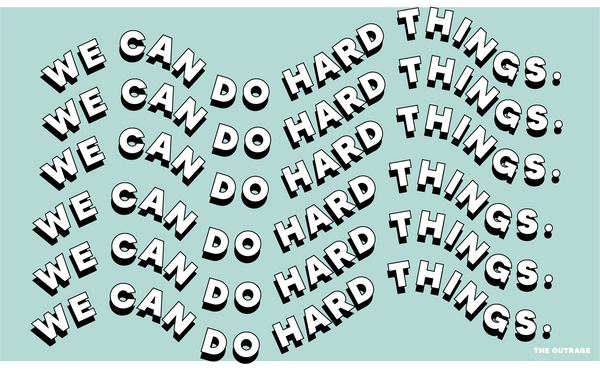 We Can Do Hard Things Postcard