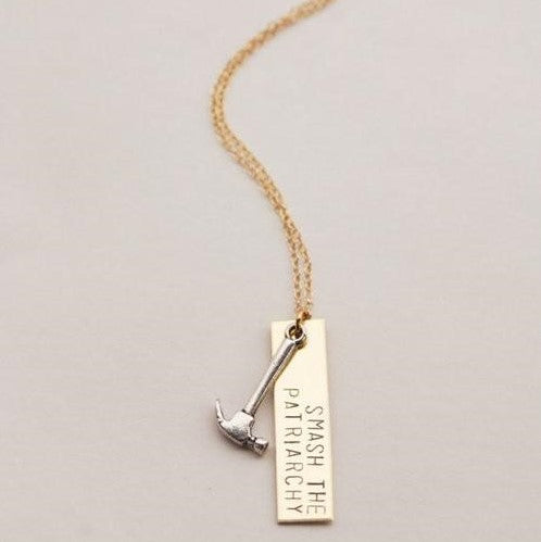 'smash the patriarchy' necklace