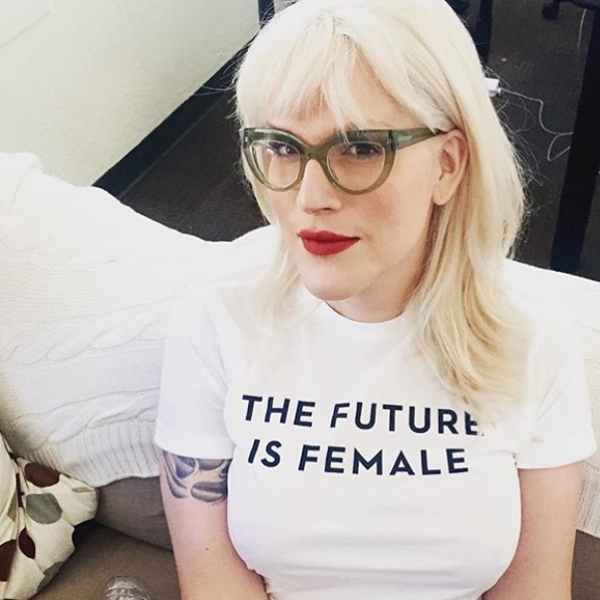 'the future is female' t-shirt