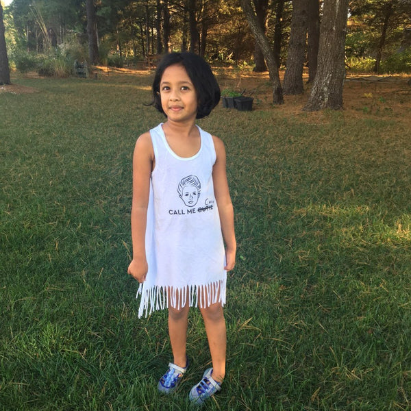 'Call me Curie' Kid's Dress