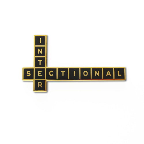'Intersectional' enamel pin