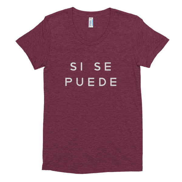 'si se puede' women's fitted t-shirt