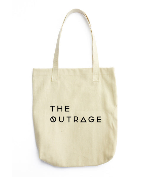 The Outrage logo tote