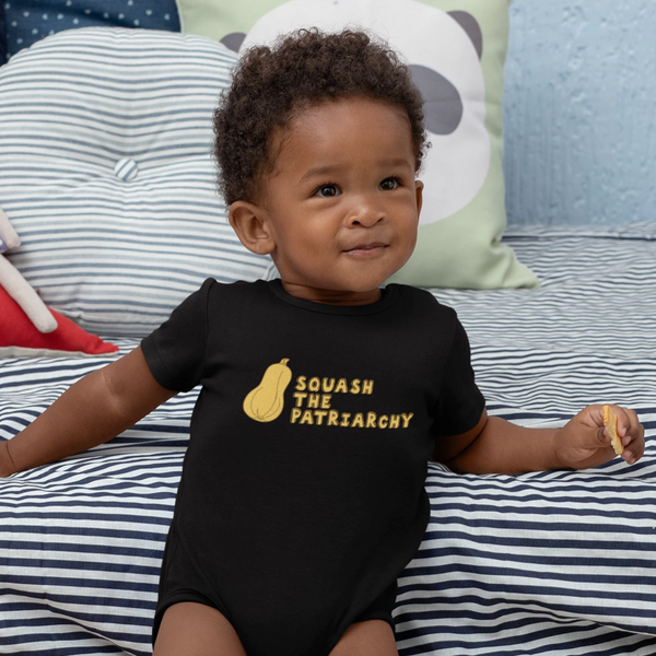 Squash The Patriarchy Onesie + Kids Tee
