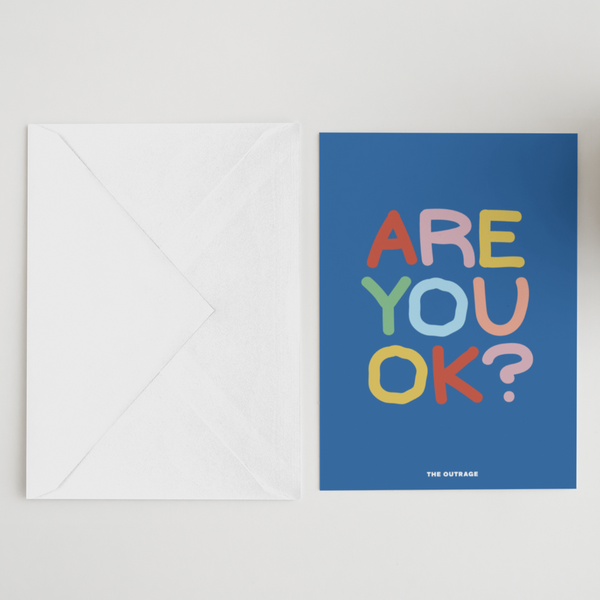 Are You OK? Postcard