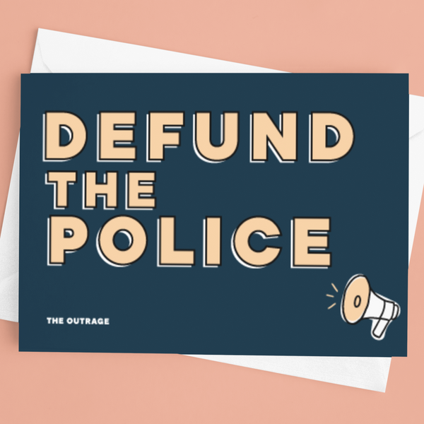 Defund The Police Postcard