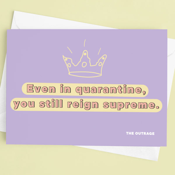 You Reign Supreme Postcard