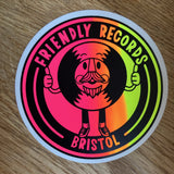 Friendly Records logo sticker