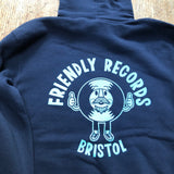 Friendly Records logo hooded sweatshirt