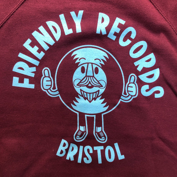 Friendly Records logo crewneck sweatshirt