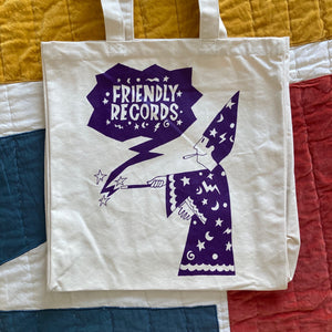 Friendly Records 'Wizard' tote bag