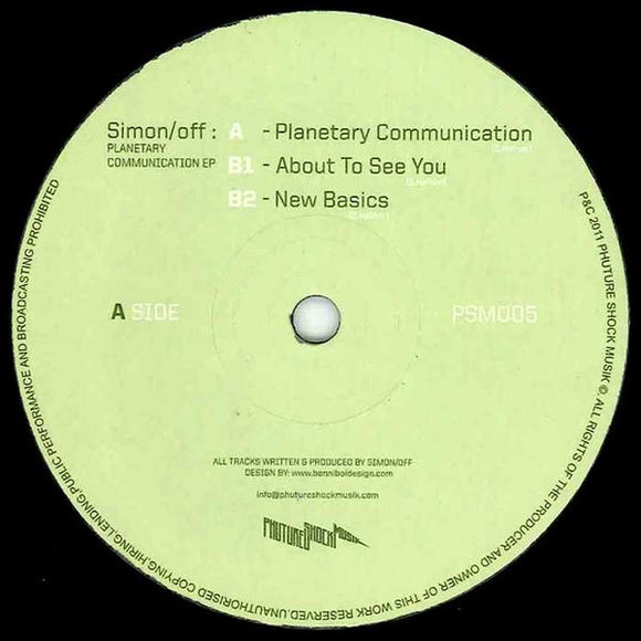 Simon/off - Planetary Communication EP