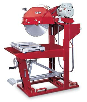 "MK-5010T Block Saw - 50HZ 460V 3 Phase with 24"" Blade Guard"