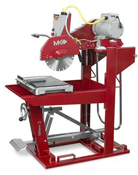 "MK-5009T Block Saw - 60HZ 230V 3 Phase with 14"" Blade Guard"