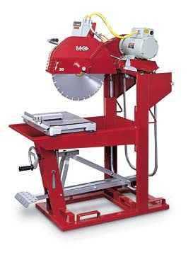 "MK-5009T Block Saw - 60HZ 230V 3 Phase with 20"" Blade Guard"