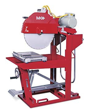 "MK-5009T Block Saw - 60HZ 460V 3 Phase with 24"" Blade Guard"