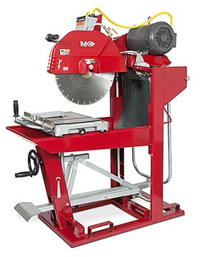 "MK-5010T Block Saw - 60HZ 460V 3 Phase with 24"" Blade Guard"