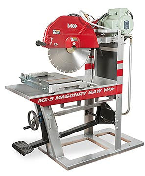 "MX-5 Masonry Saw - 60HZ 230V Single-Phase with 20"" Blade Guard"