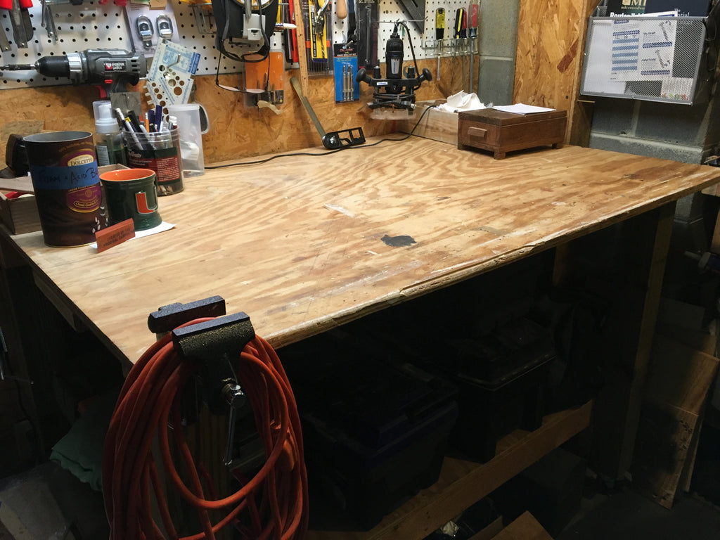 Building a Workshop: Part III Workbench and Shelves