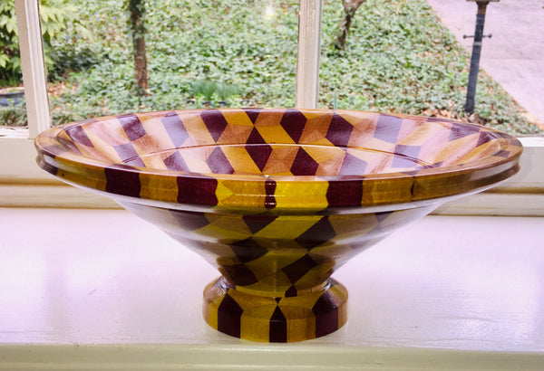 """Diamond Heart"" Pedestal Bowl (#22)"