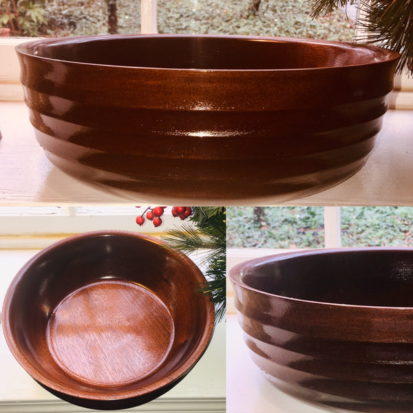 """Groovy"" Mahogany Salad/ Fruit Bowl (#21)"