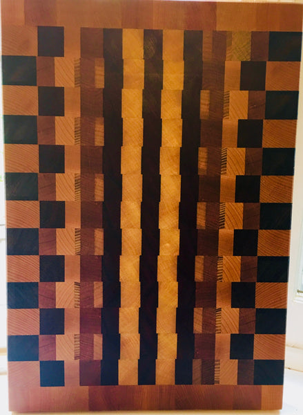 """Yellow Brick Road"" End Grain Cutting Board (#53)"