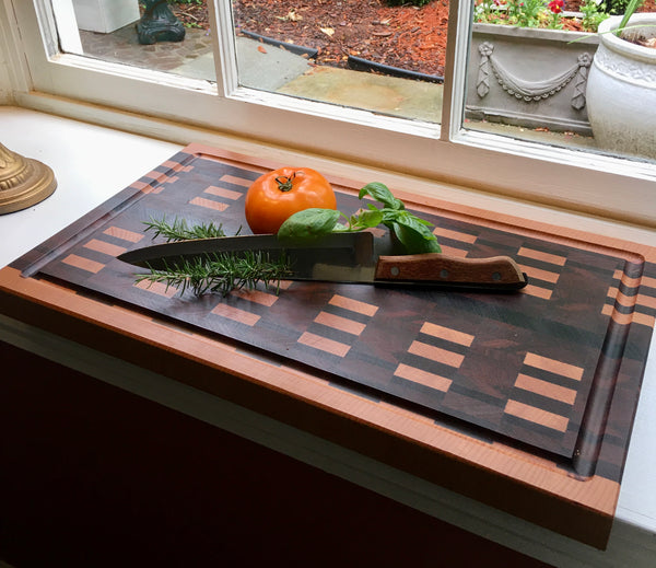 """Dash it All"" End Grain Cutting Board (#167)"