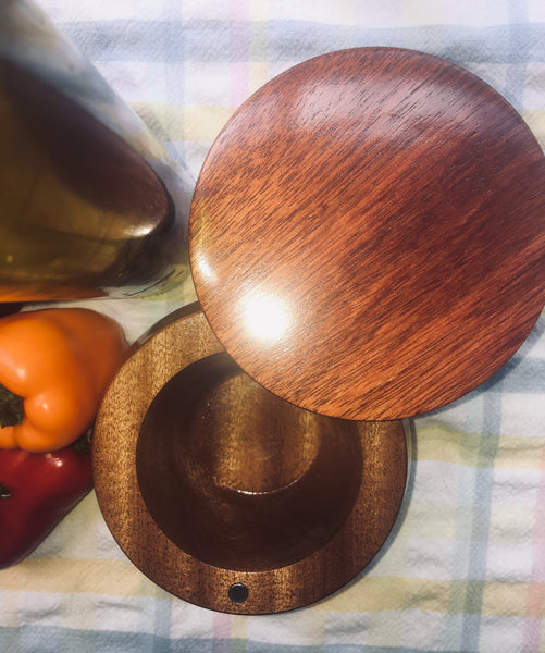 Artisan Salt Cellar / Mahogany and Bloodwood (#4)