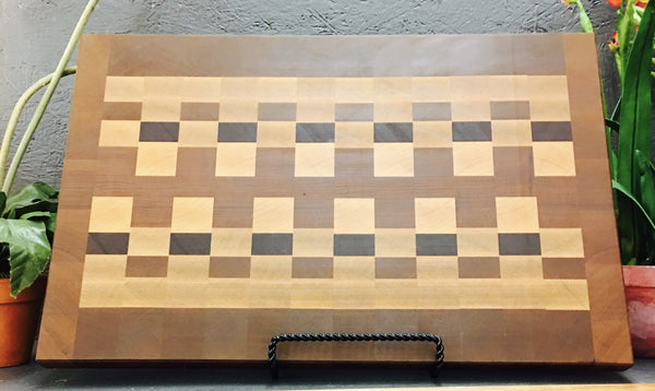 """Zipper"" pattern End Grain Cutting Board. (#30)"