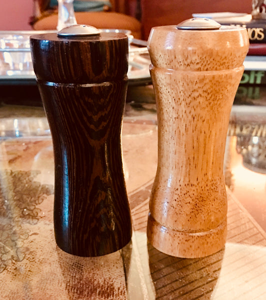 Salt and Pepper Shaker Set (Wenge and Colonial Cypress)