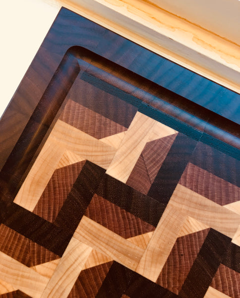 """A Step Above"" 3D End Grain Cutting Board (#70)"