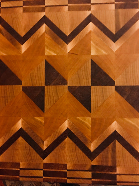 """Tilted Square"" Slovenian Cutting Board (#124)"
