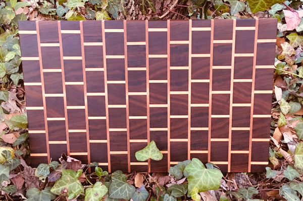 "Walnut ""Brick Pattern"" End Grain Cutting Board (#130)"