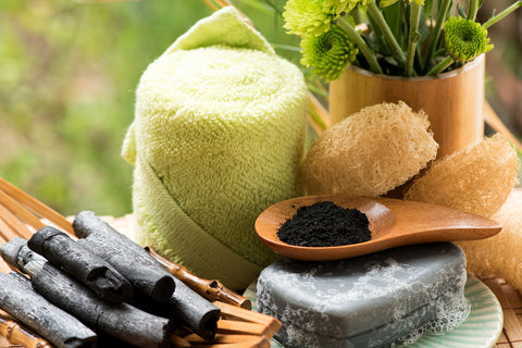The Healing Tree Bamboo Charcoal Soap Making Bath Set