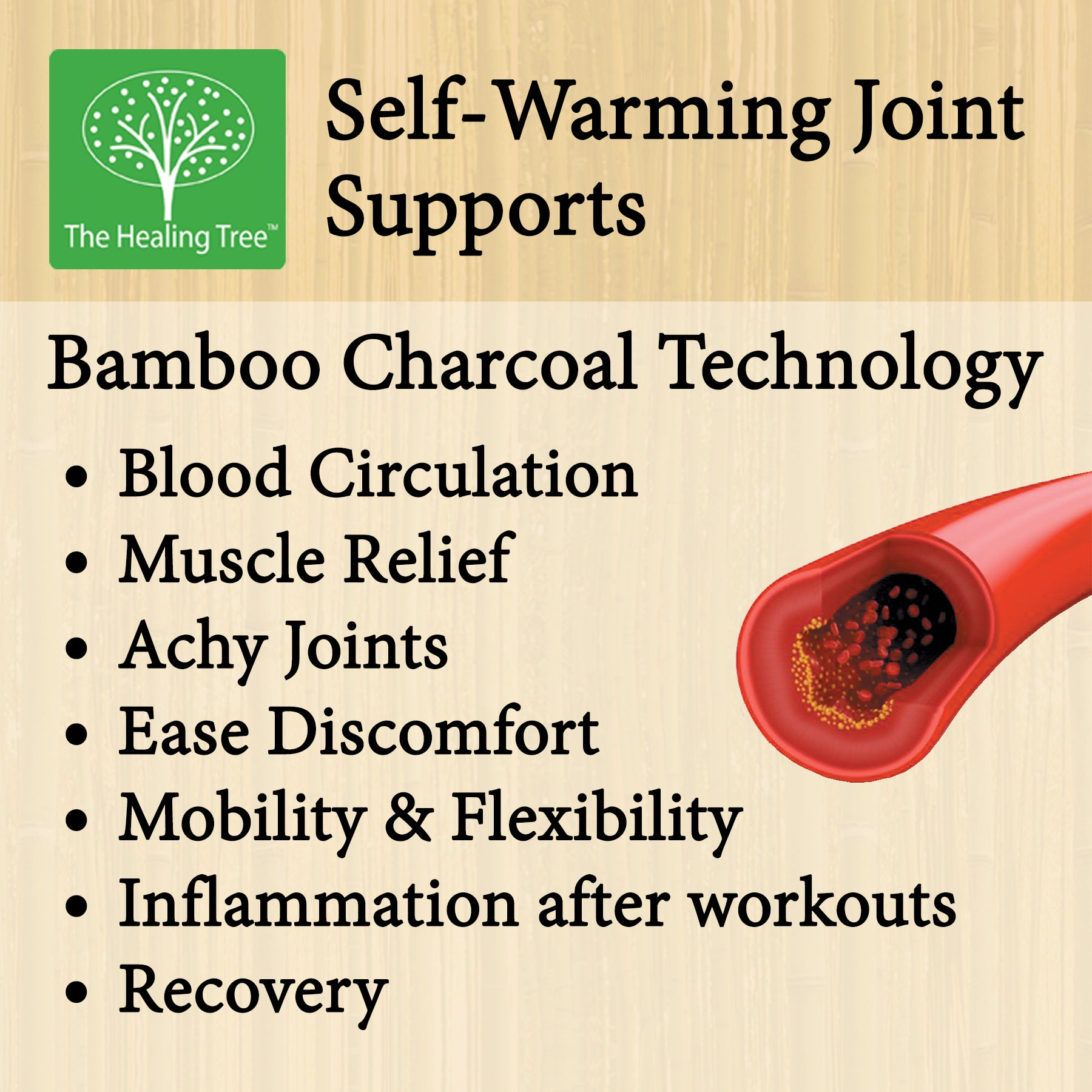 Medium Bamboo Pro Self-Warming Ankle Support