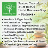 Bamboo Charcoal & Tea Tree Oil Handmade Soap for Acne Prone Skin
