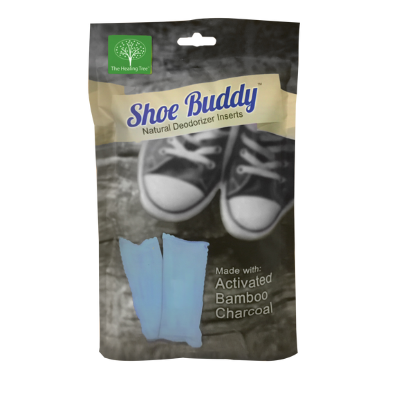 Shoe Buddy Deodorizer | Bamboo Charcoal | Reduces Odor, Moisture, & Mold