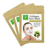 Avocado & Seaweed Collagen Face Mask for Wrinkles (3-Pack, 6-Pack, 9-Pack)