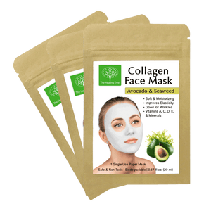 Calendula & Tea Tree Collagen Face Mask for Acne Prone Skin (3-Pack, 6-Pack, 9 Pack)