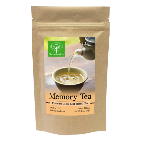 Memory Herbal Tea for Memory, Focus, & Concentration | Made in USA